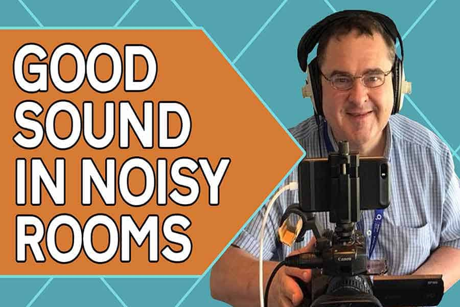 Video recording in a noisy room