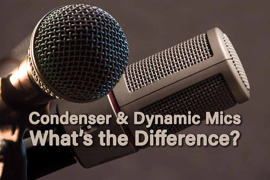 The difference between condenser and dynamic mics