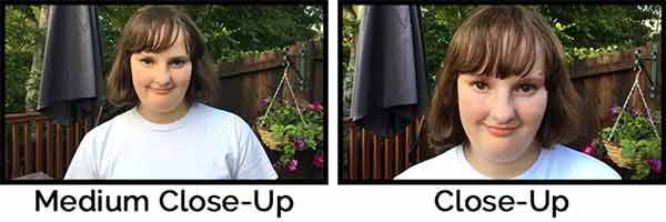 An image showing both the video medium close-up and video close-up. These type of framing will help you to communicate with eyes.