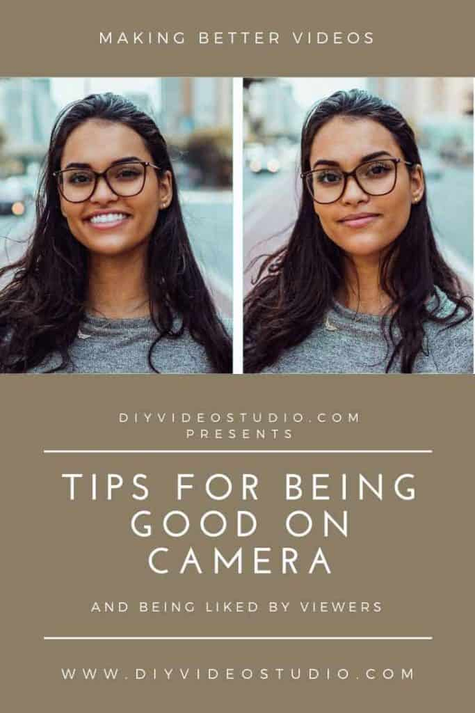 Tips for Being Good on Camera and Being Liked by Viewers - Pinterest Graphic