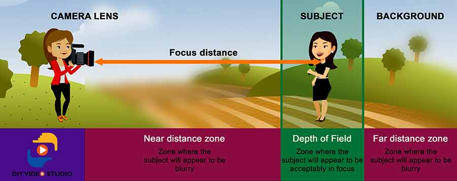 My depth of field definition is that the depth of field is the zone in front of the camera's lens where the subject will appear in focus.