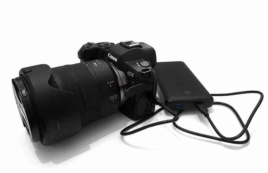 canon eos r usb charging