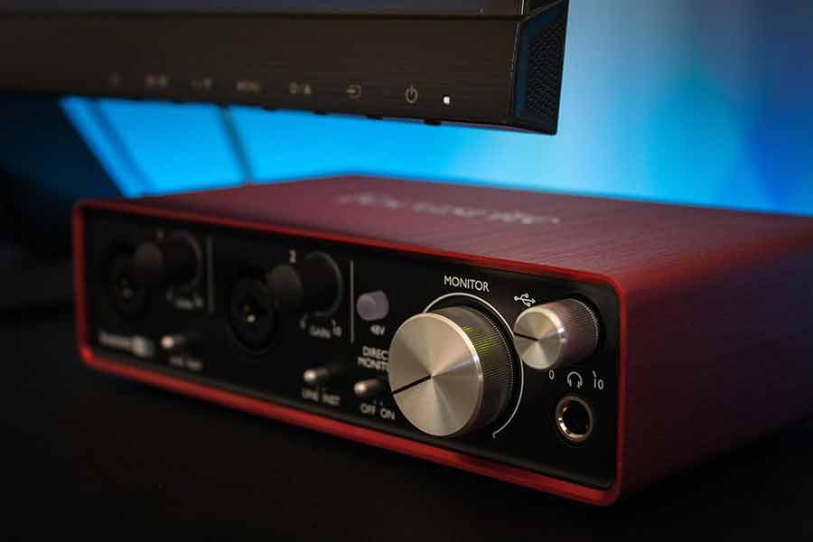 A Focusrite audio interface