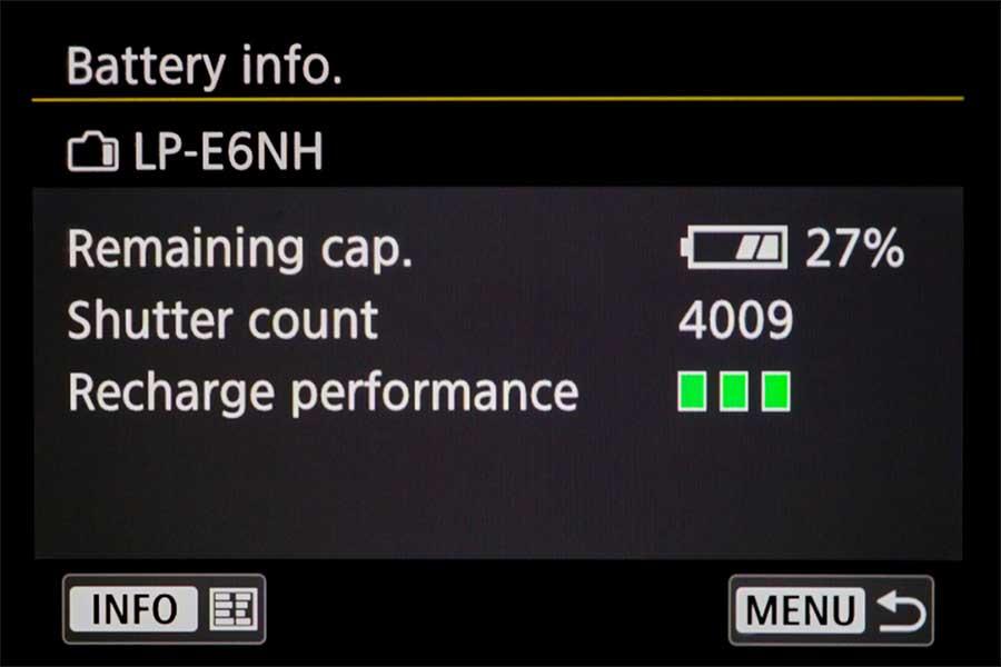 Canon-EOS-R6-Battery-Info-menu-page